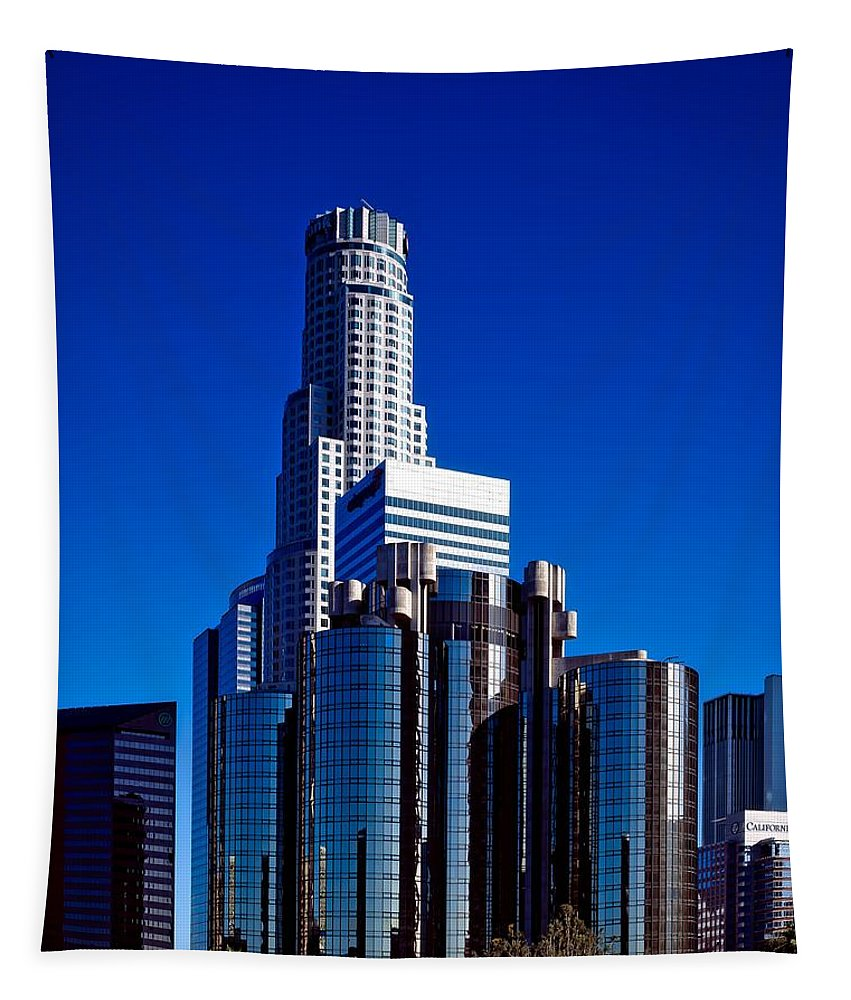 Los Angeles Tapestry featuring the photograph Los Angeles' Westin Bonaventure Hotel by Mountain Dreams