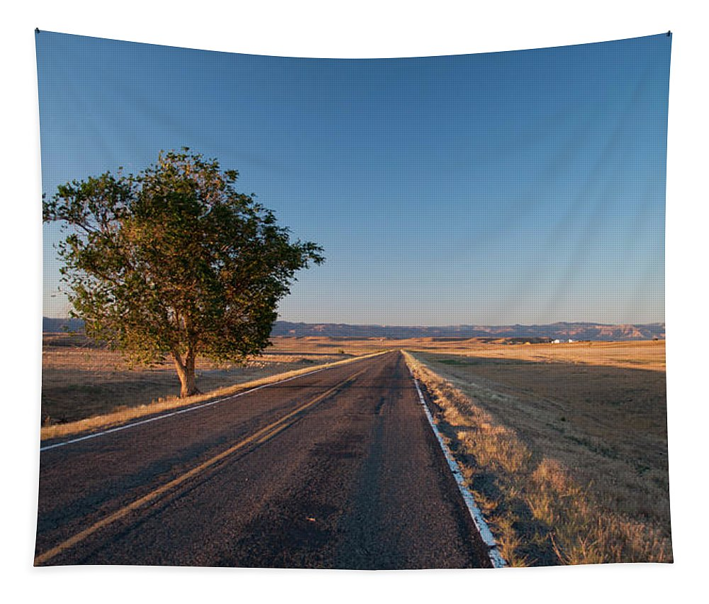 Colorado Tapestry featuring the photograph Lost Highway by Julia McHugh