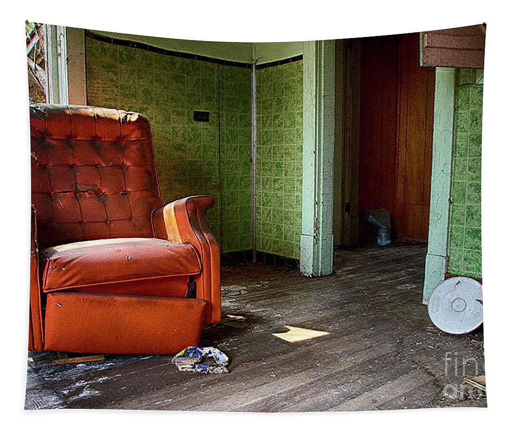 Old Chair Tapestry featuring the photograph Lost In Time 12 by Bob Christopher