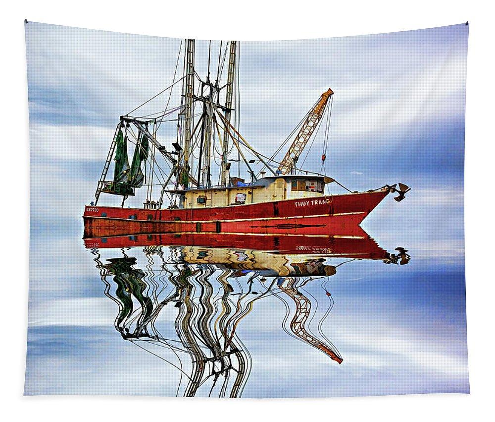 Steve Harrington Tapestry featuring the photograph Louisiana Shrimp Boat 4 - Paint by Steve Harrington