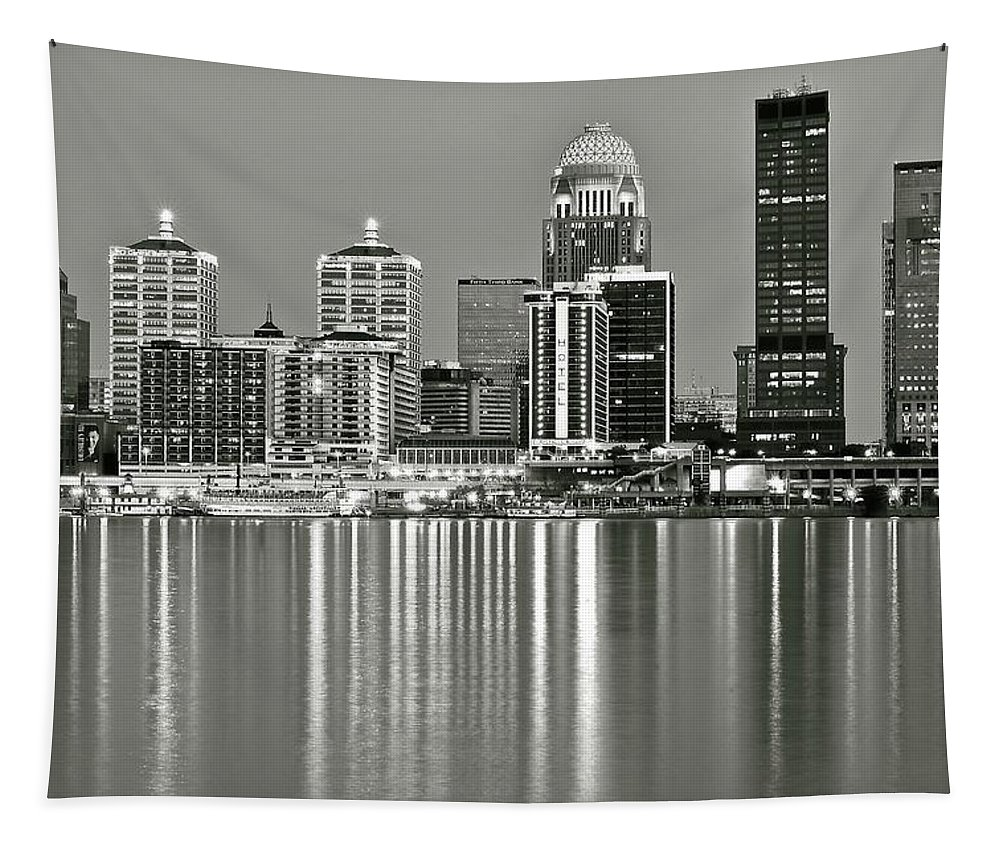 Louisville Tapestry featuring the photograph Louisville Gray by Frozen in Time Fine Art Photography