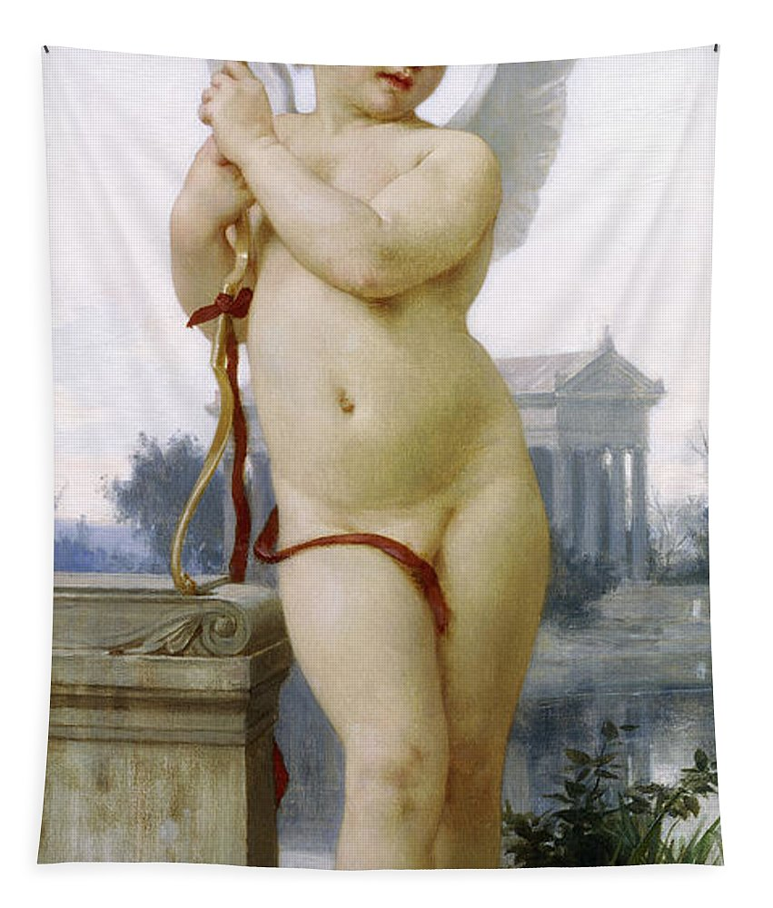 Love Tapestry featuring the painting Love, 1891 by William-Adolphe Bouguereau