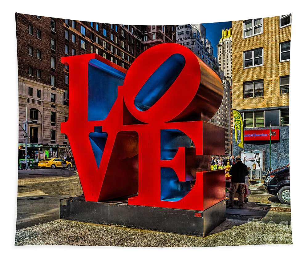 City Tapestry featuring the photograph Love In Nyc by Nick Zelinsky
