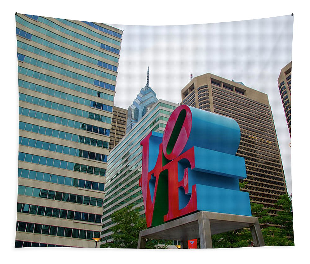 Love Tapestry featuring the photograph Love In The City - Philadelphia by Bill Cannon