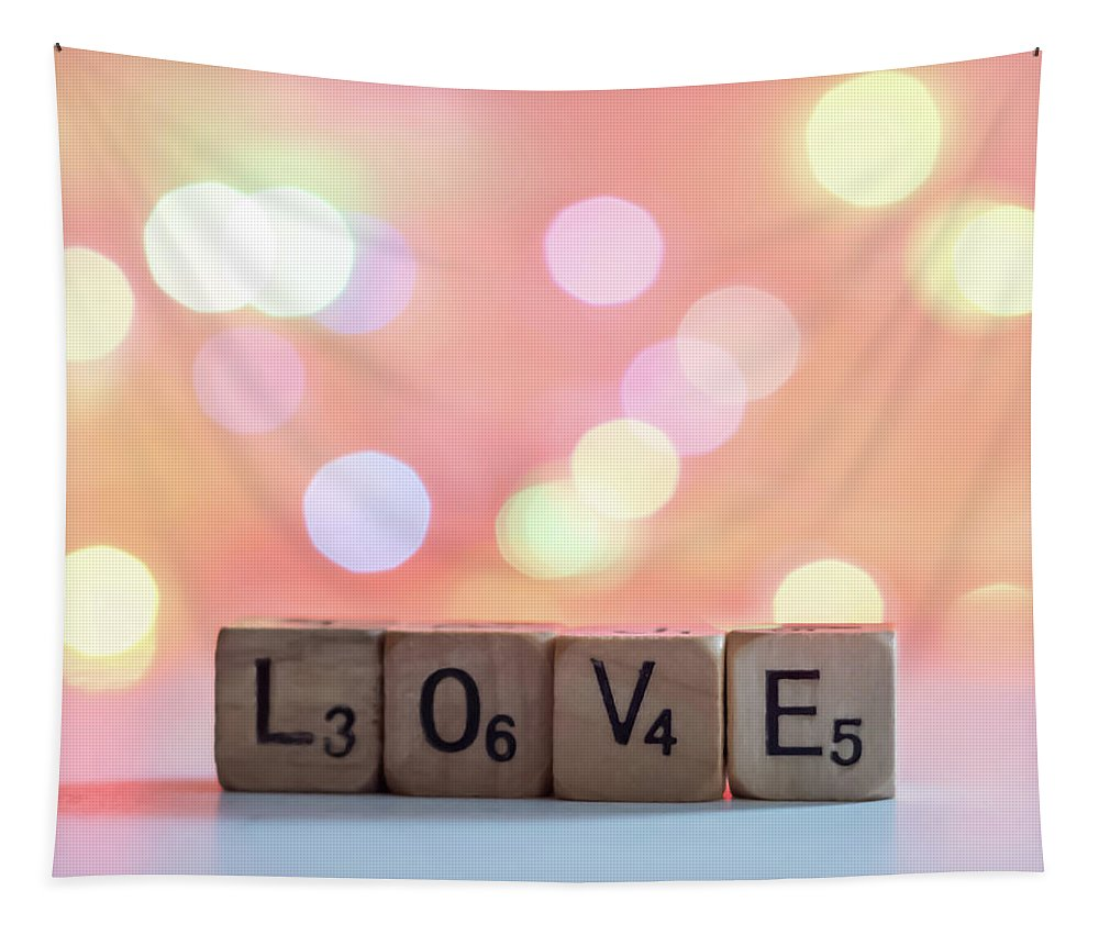 Terry D Photography Tapestry featuring the photograph Love Lights Square by Terry DeLuco