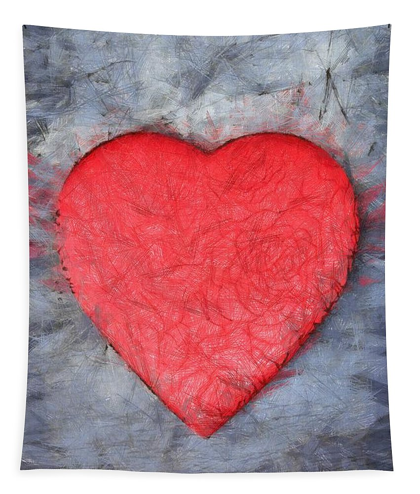 Heart Tapestry featuring the photograph Love Pencil by Edward Fielding