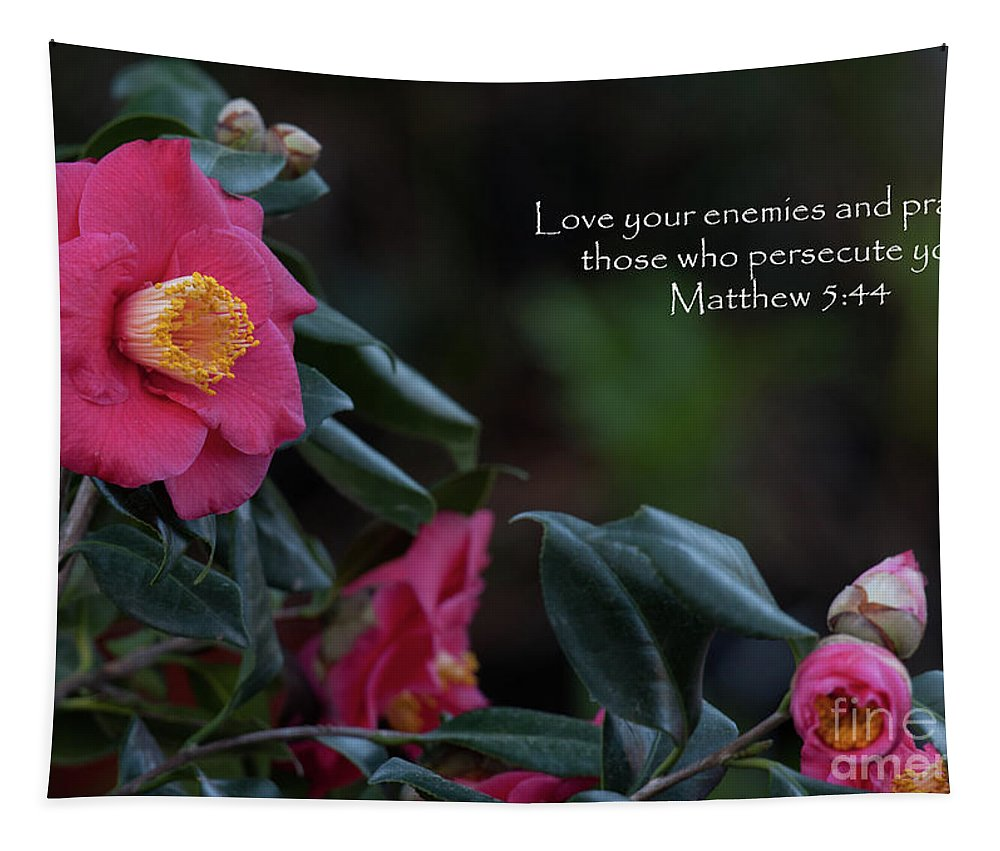 Camellia Tapestry featuring the photograph Love Your Enemies by Dale Powell
