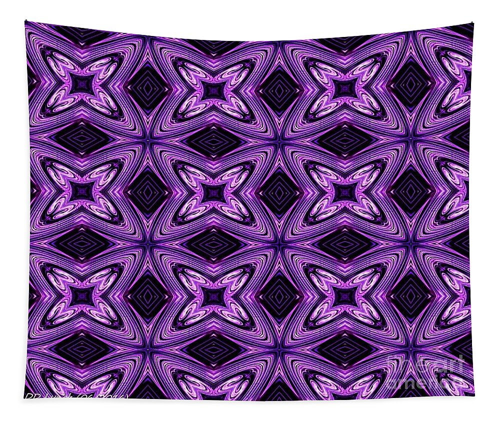 Purple Tapestry featuring the digital art Lovely As A Purple Thought by Debra Lynch