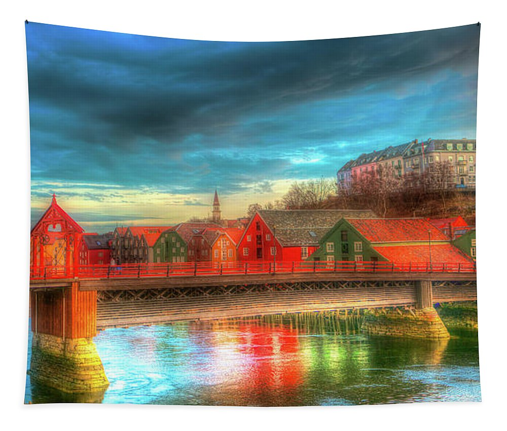 Trondheim Tapestry featuring the photograph Lovely Trondheim Norway by Pixabay