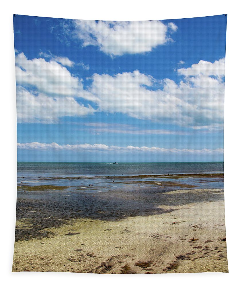 Blue Tapestry featuring the photograph Low Tide In Paradise - Key West by Bob Slitzan