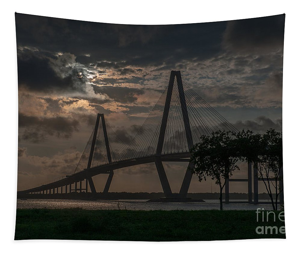 Arthur Ravenel Jr. Bridge Tapestry featuring the photograph Lowcountry Grace by Dale Powell