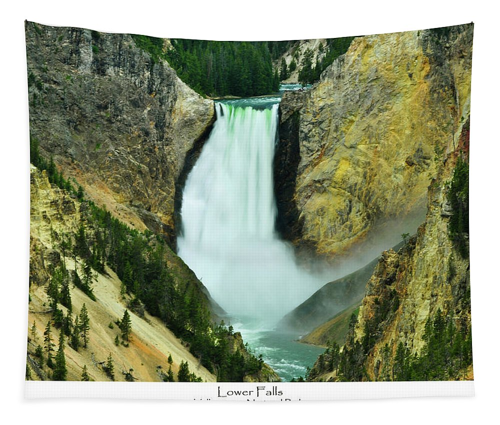 Lower Falls Tapestry featuring the photograph Lower Falls by Greg Norrell