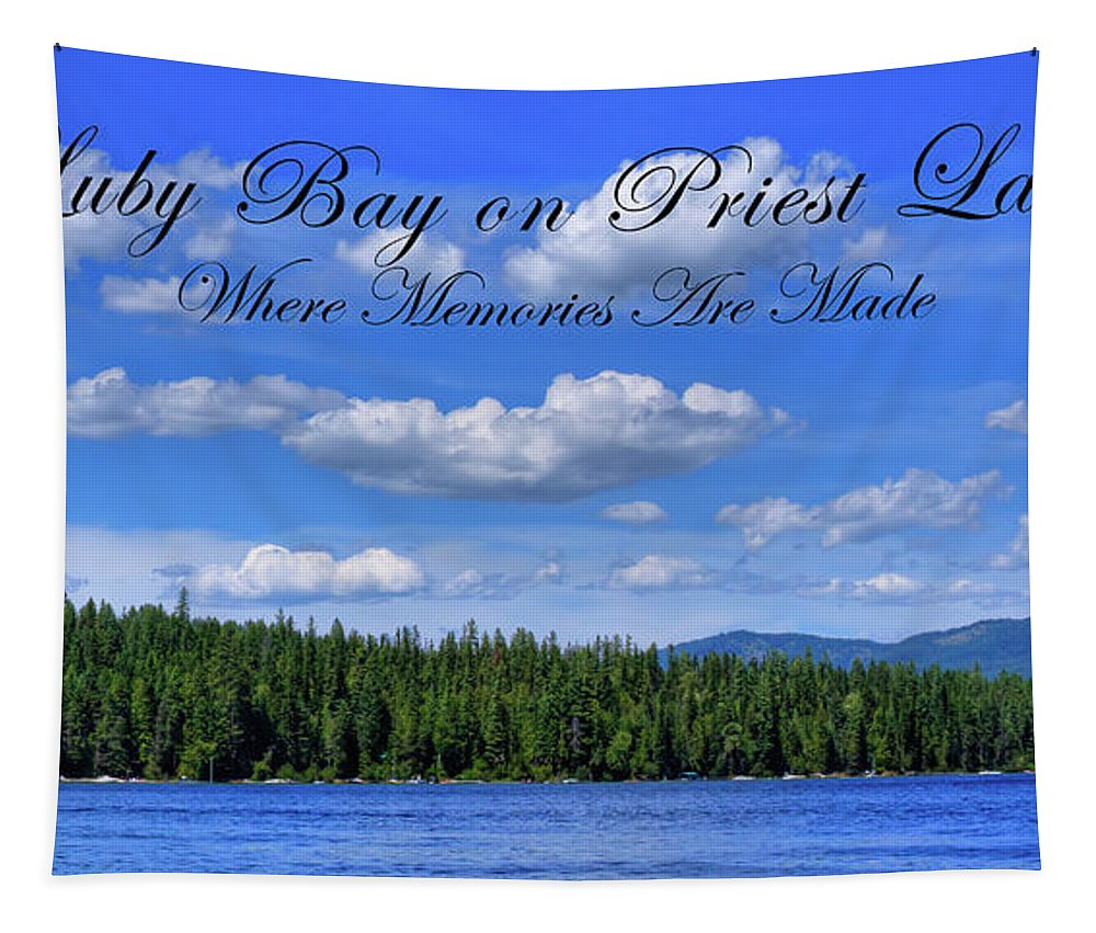 Luby Bay On Priest Lake Tapestry featuring the photograph Luby Bay On Priest Lake by David Patterson