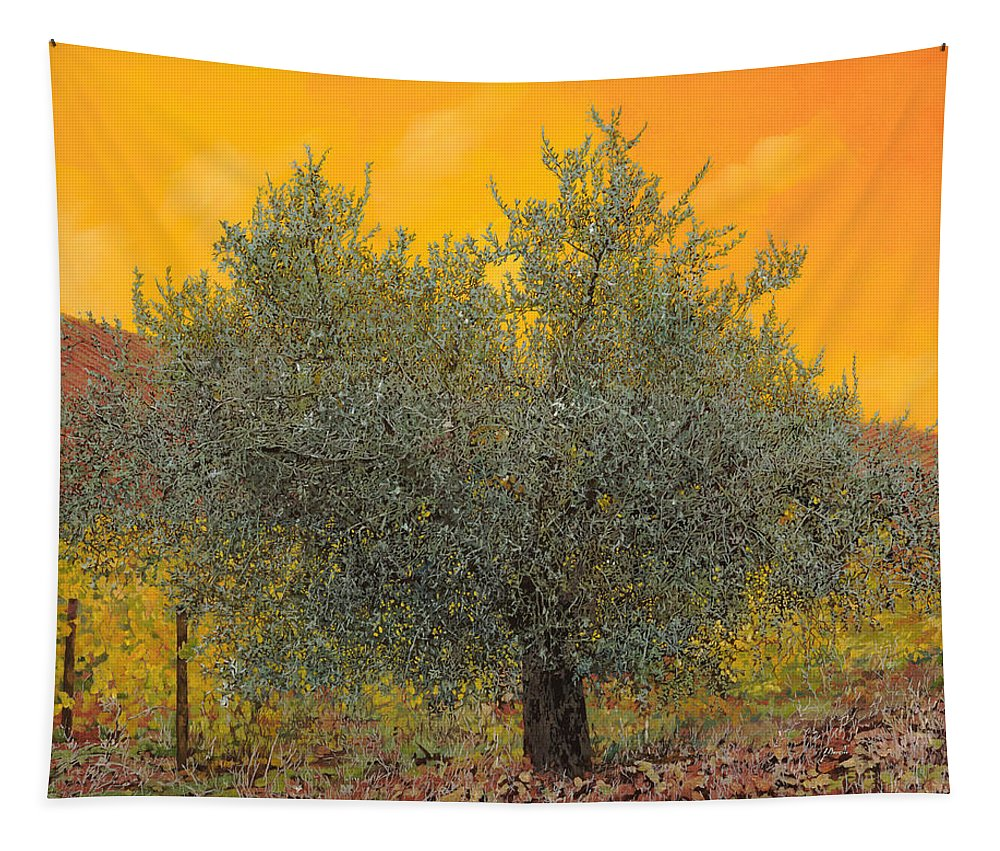 Olive Tree Tapestry featuring the painting L'ulivo Tra Le Vigne by Guido Borelli