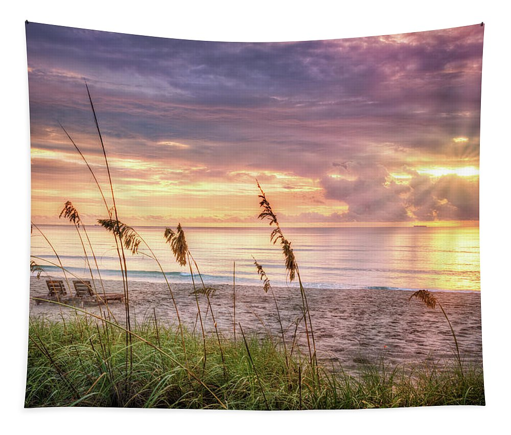 Clouds Tapestry featuring the photograph Luminous by Debra and Dave Vanderlaan