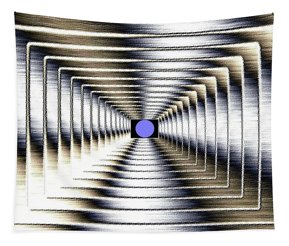 Abstract Tapestry featuring the digital art Luminous Energy 6 by Will Borden