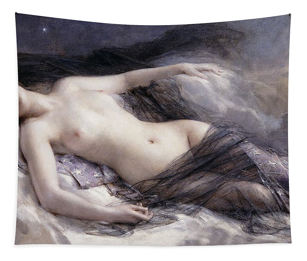 Moon Tapestry featuring the painting Luna by Leon Francois Comerre