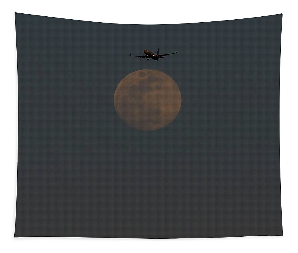 Moon Tapestry featuring the photograph Lunar Landing by Alex Lapidus