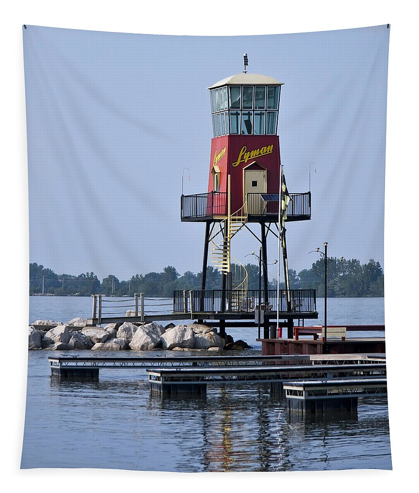 Lighthouse Tapestry featuring the photograph Lyman Harbor Lighthouse by Dale Kincaid