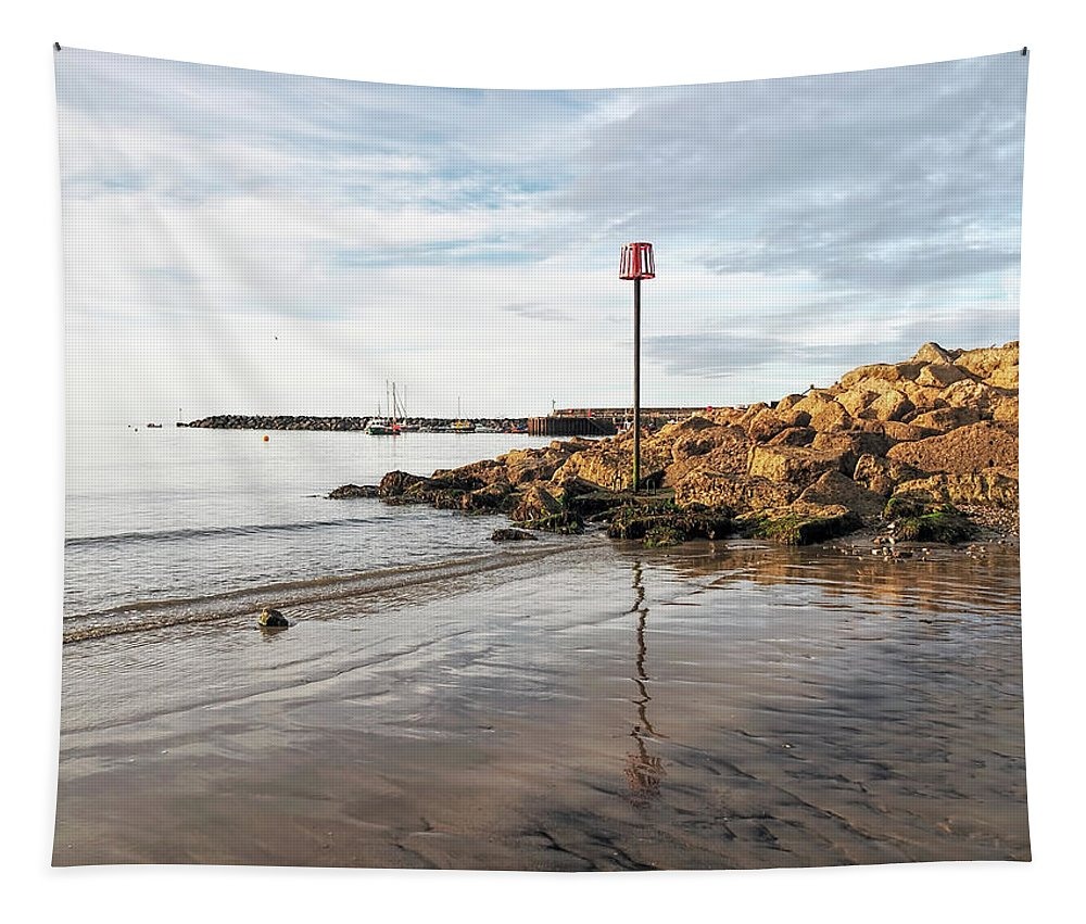 Lyme-regis Tapestry featuring the photograph Lyme Regis Seascape - July by Susie Peek