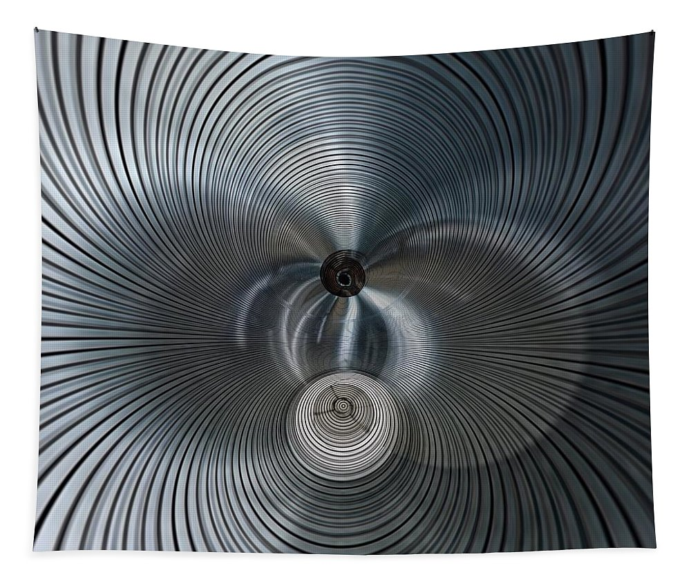Digital Art Tapestry featuring the photograph machine Music 4 by Philip Openshaw