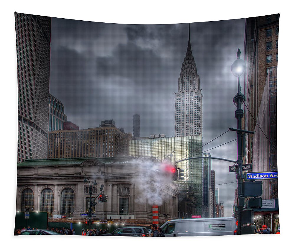 New York Tapestry featuring the photograph Madison Avenue by Mark Andrew Thomas