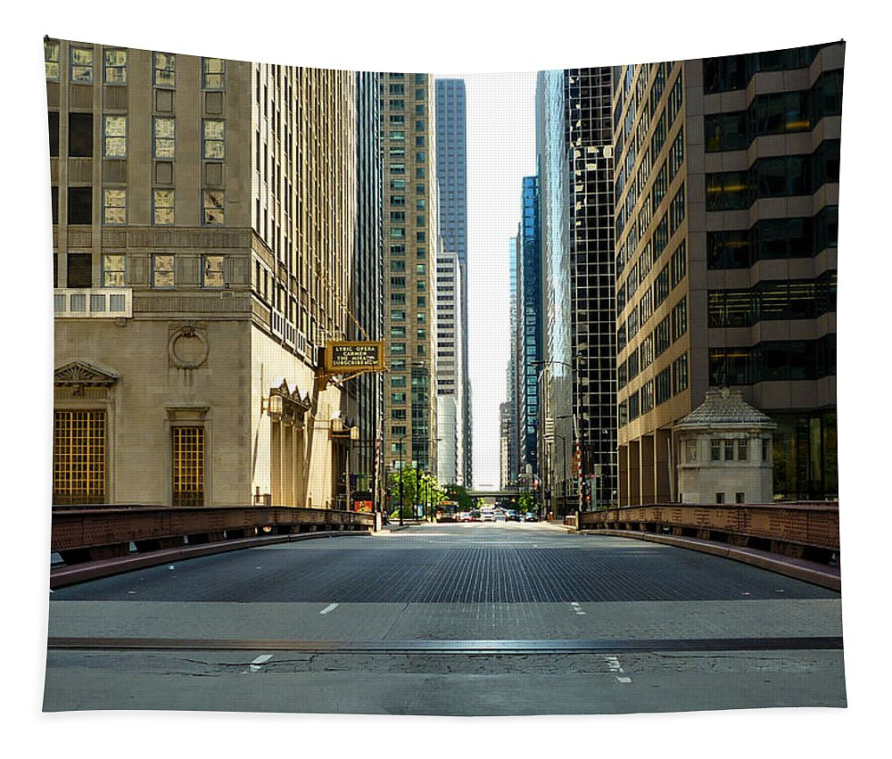Madison Street Bridge Tapestry featuring the photograph Madison Street Bridge - 4 by Ely Arsha