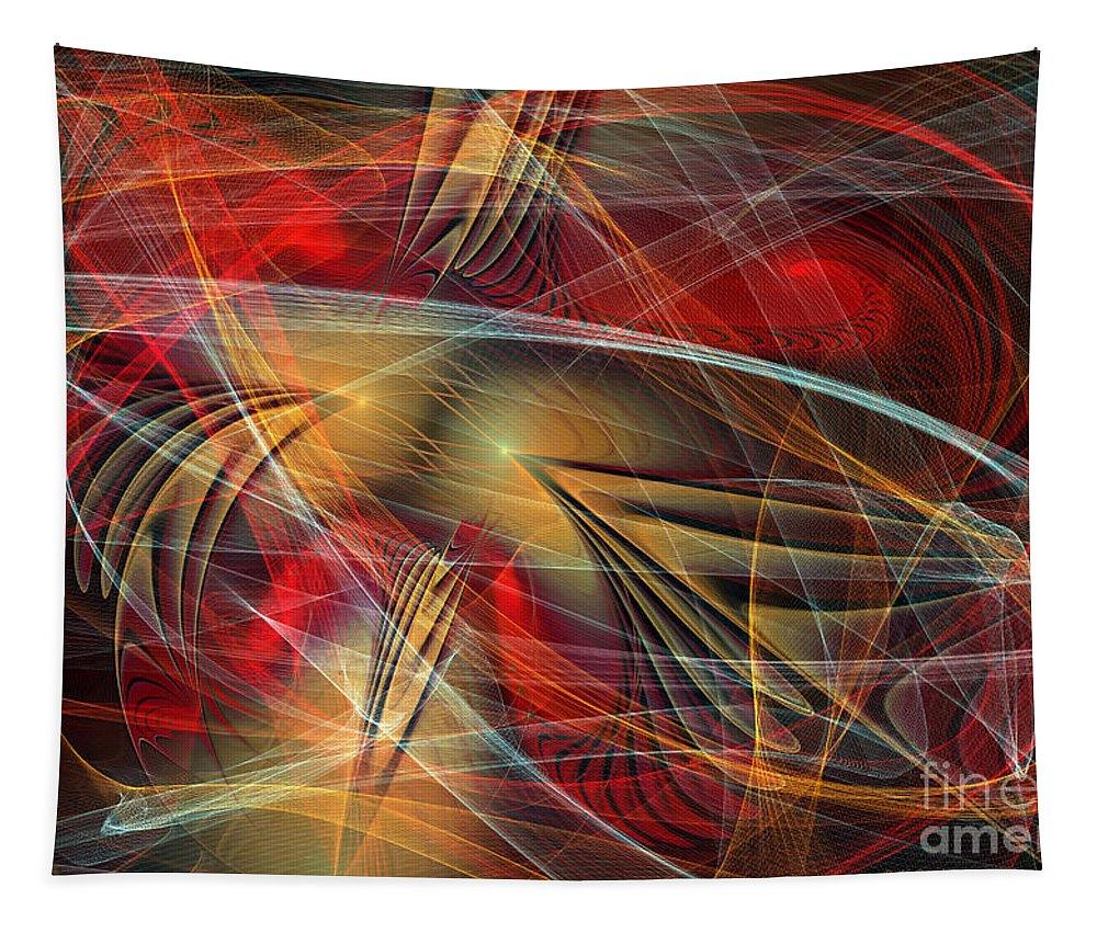 Digital Tapestry featuring the digital art Madness Of Art by Deborah Benoit