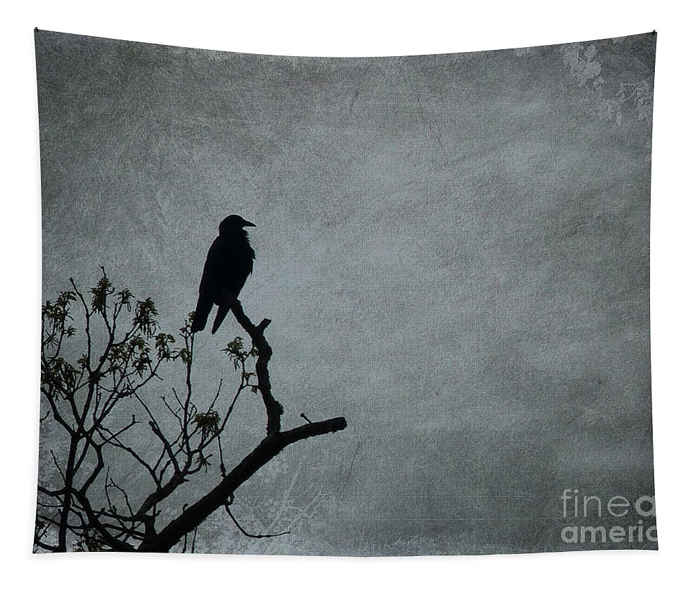 Crow Tapestry featuring the photograph Magestic Crow by Frankie Cat
