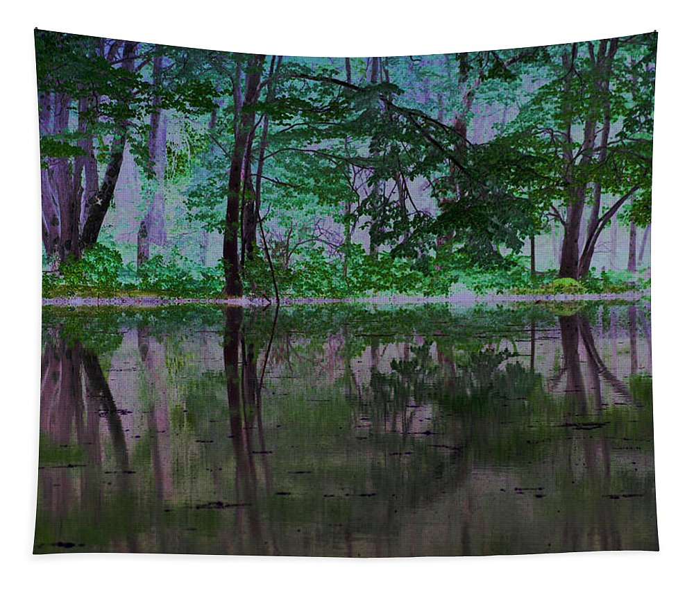Forest Tapestry featuring the photograph Magical Forest by Karol Livote