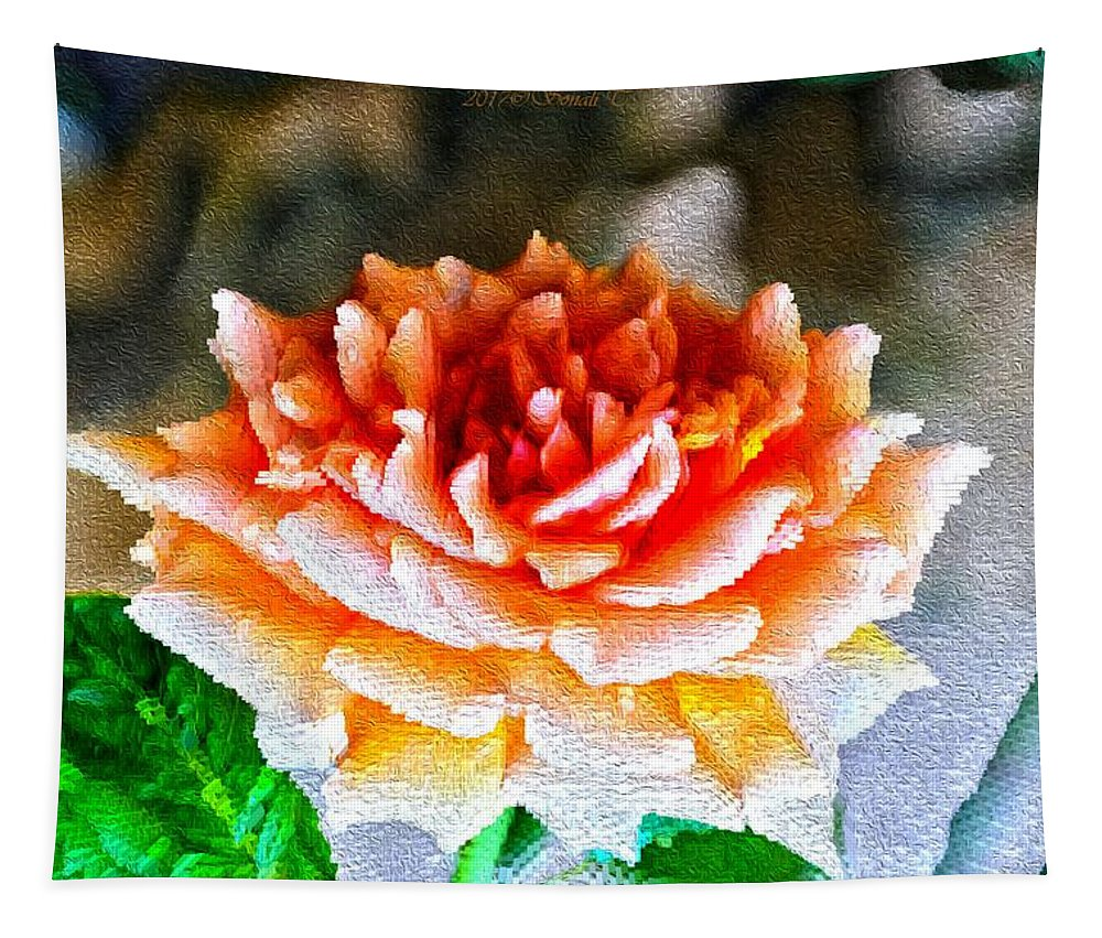 Rose Is A Rose Tapestry featuring the digital art Magical Rose by Sonali Gangane