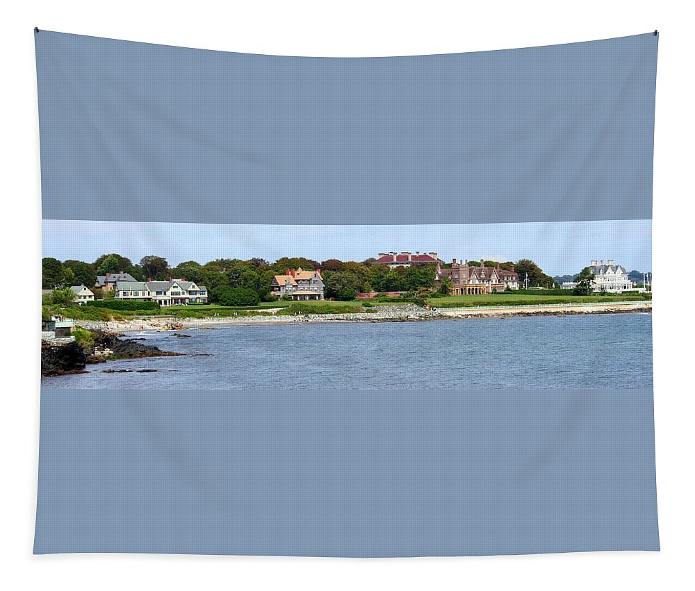 Home Tapestry featuring the photograph Magnificent Homes Along Cliff Walk by Laurel Talabere