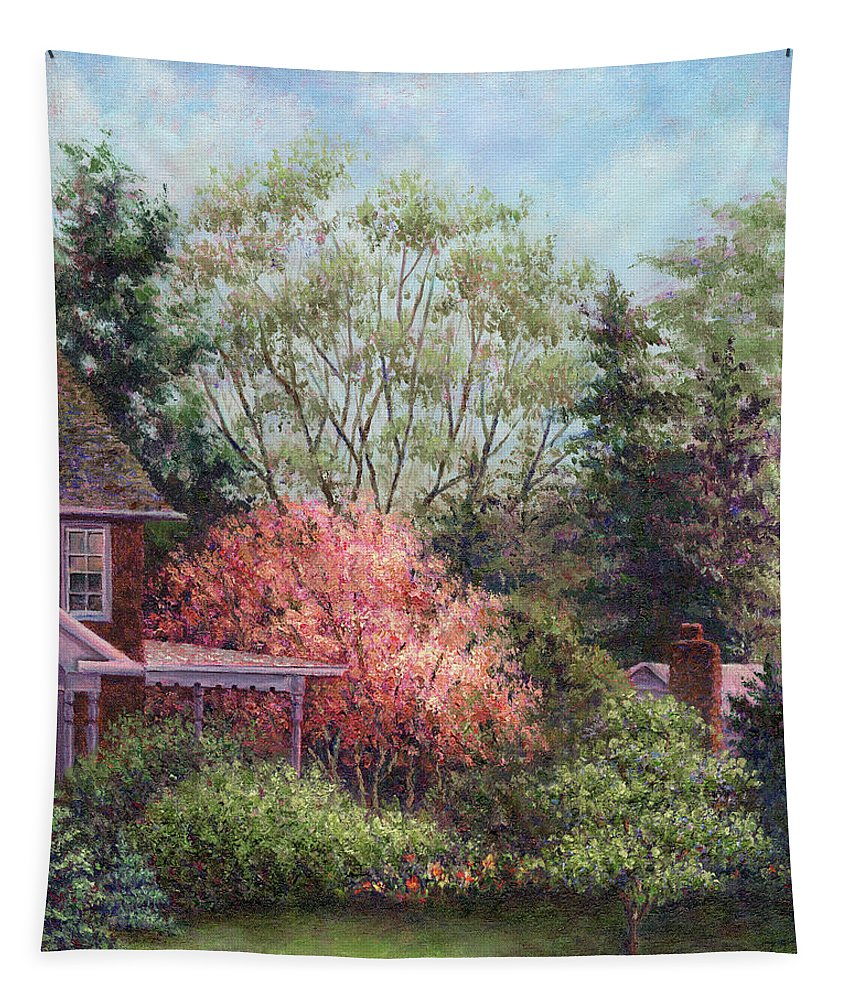 Magnolia Tapestry featuring the painting Magnolia by Susan Savad