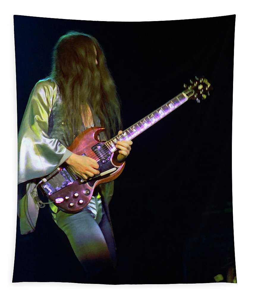 Frank Marino Tapestry featuring the photograph Mahogany Rush Seattle #21 Enhanced by Ben Upham