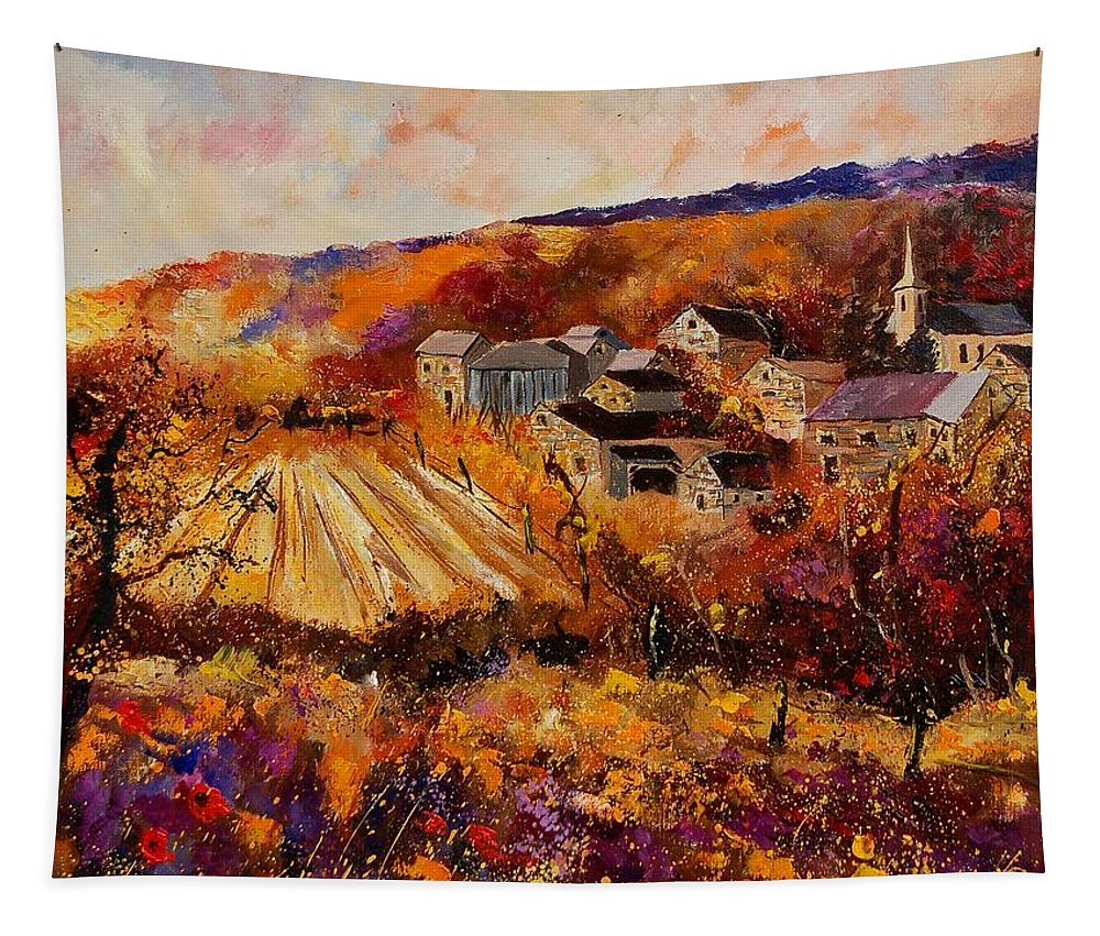 Poppies Tapestry featuring the painting Maissin by Pol Ledent