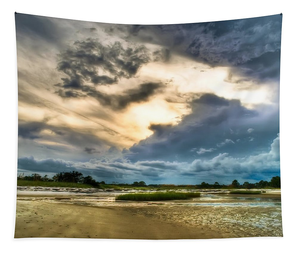 Beach Tapestry featuring the photograph Majestic Sky by Rich Leighton