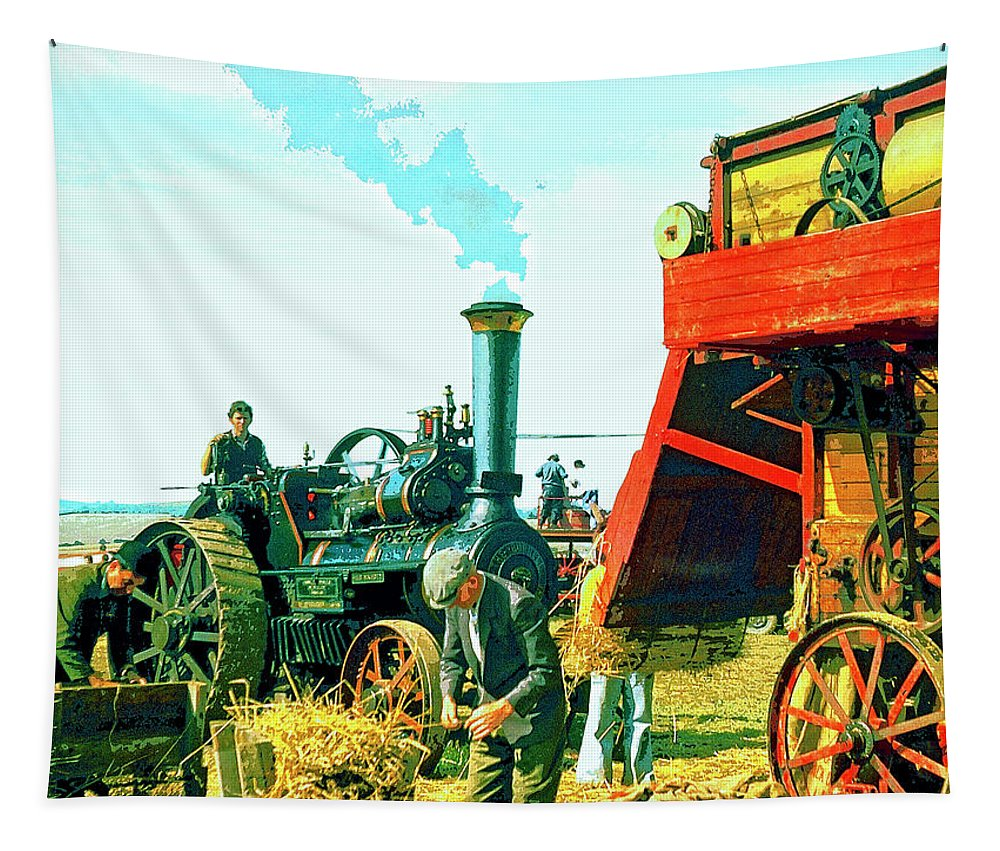 Making Hay Tapestry featuring the mixed media Making Hay by Dominic Piperata