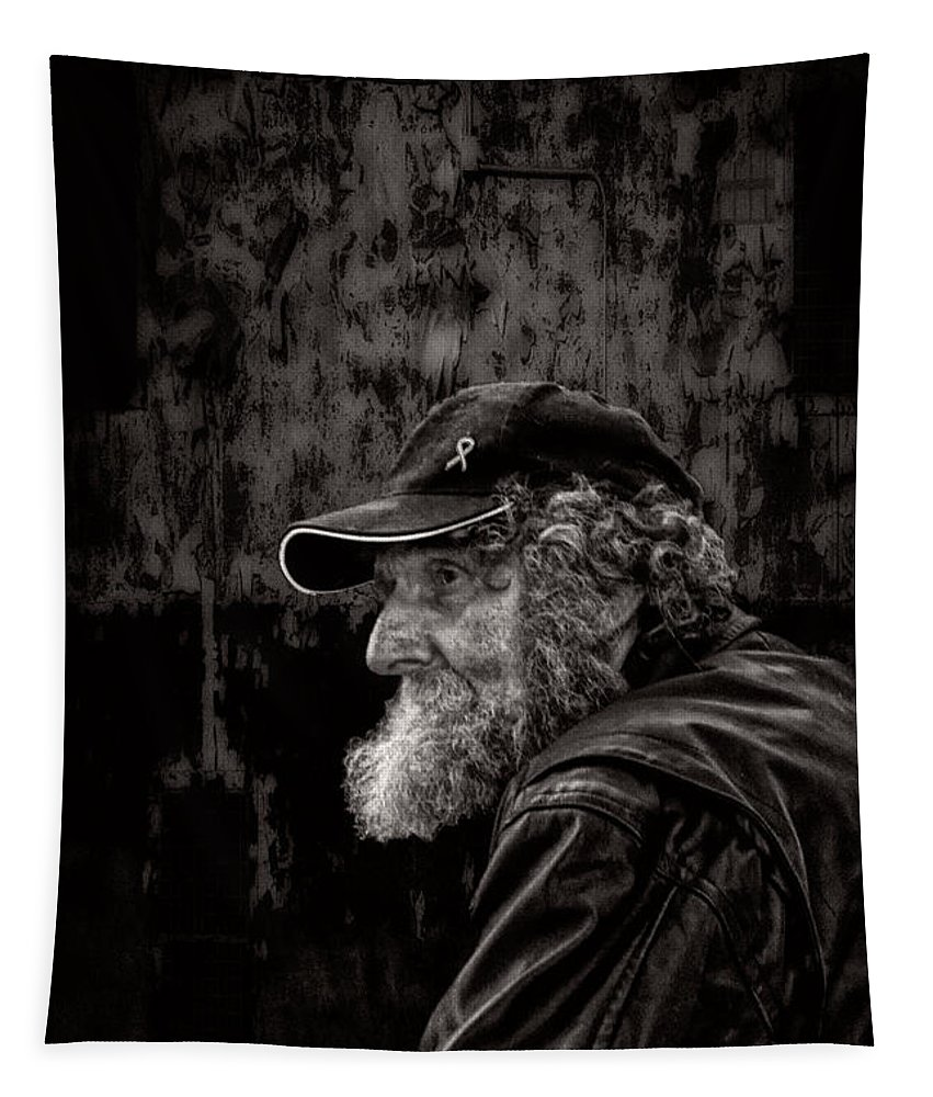 Beard Tapestry featuring the photograph Man With A Beard by Bob Orsillo