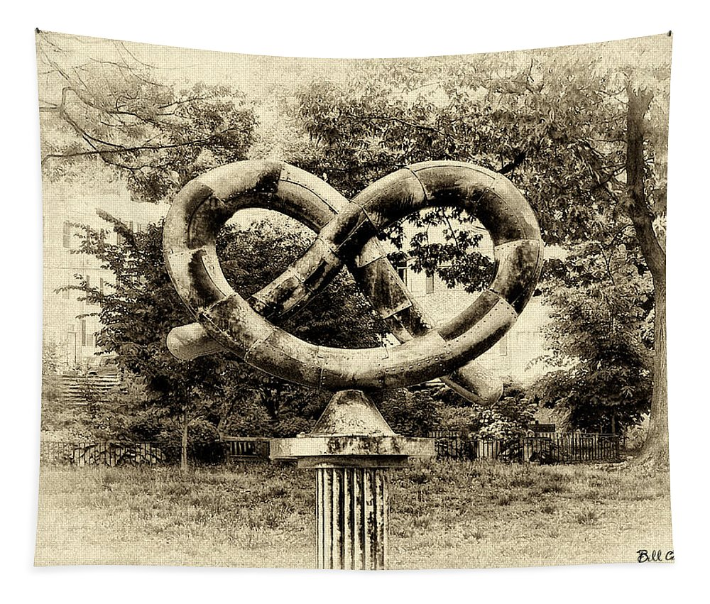 Manayunks Pretzel Park Tapestry featuring the photograph Manayunks Pretzel Park by Bill Cannon