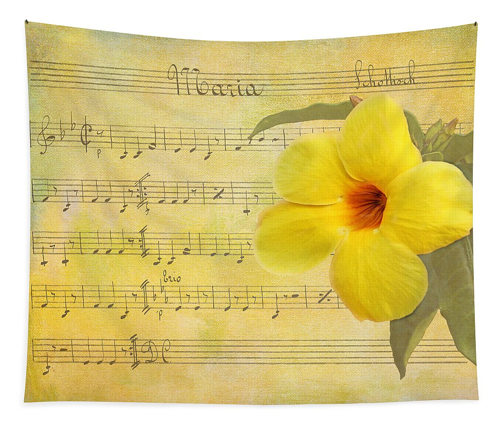 Apocynaceae Tapestry featuring the photograph Mandevilla And Maria by Judy Vincent