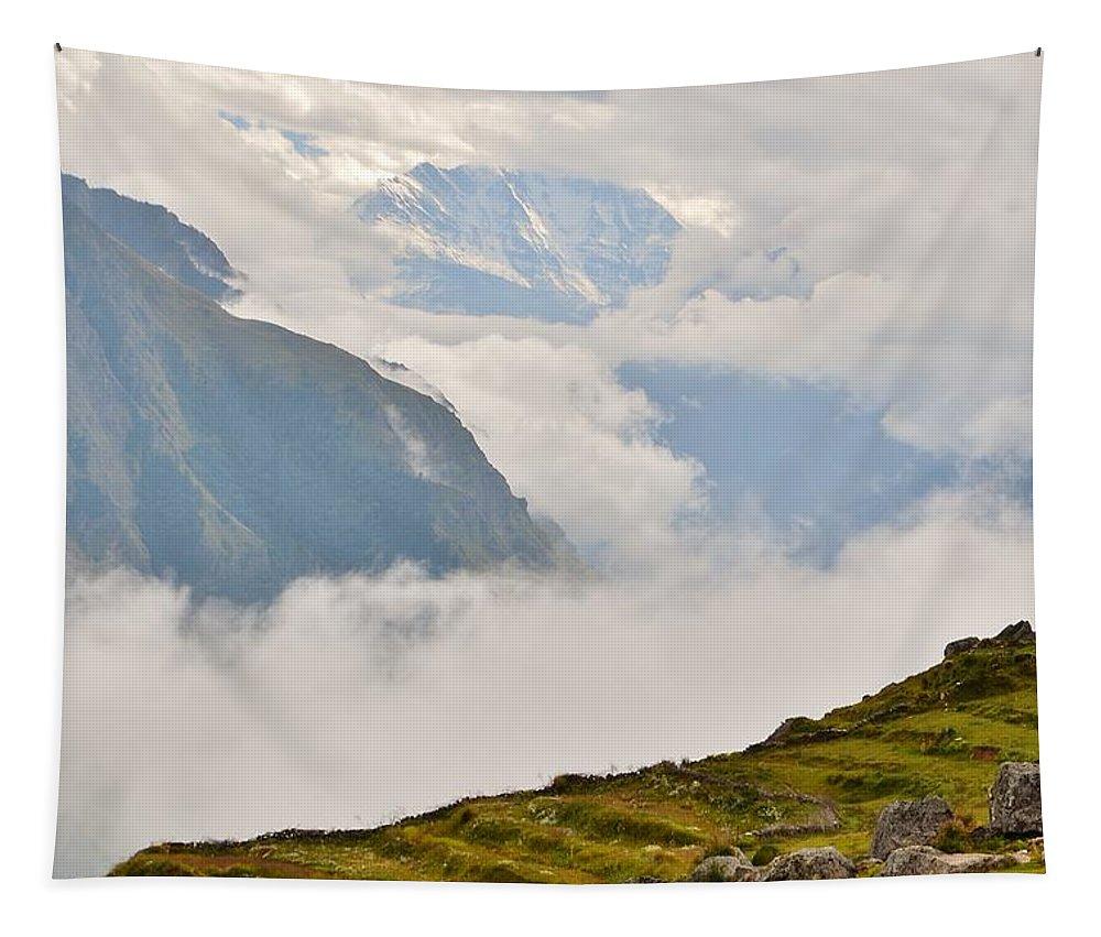 Himalaya Tapestry featuring the photograph Nandi Devi Mountain - Himalayas by Kim Bemis