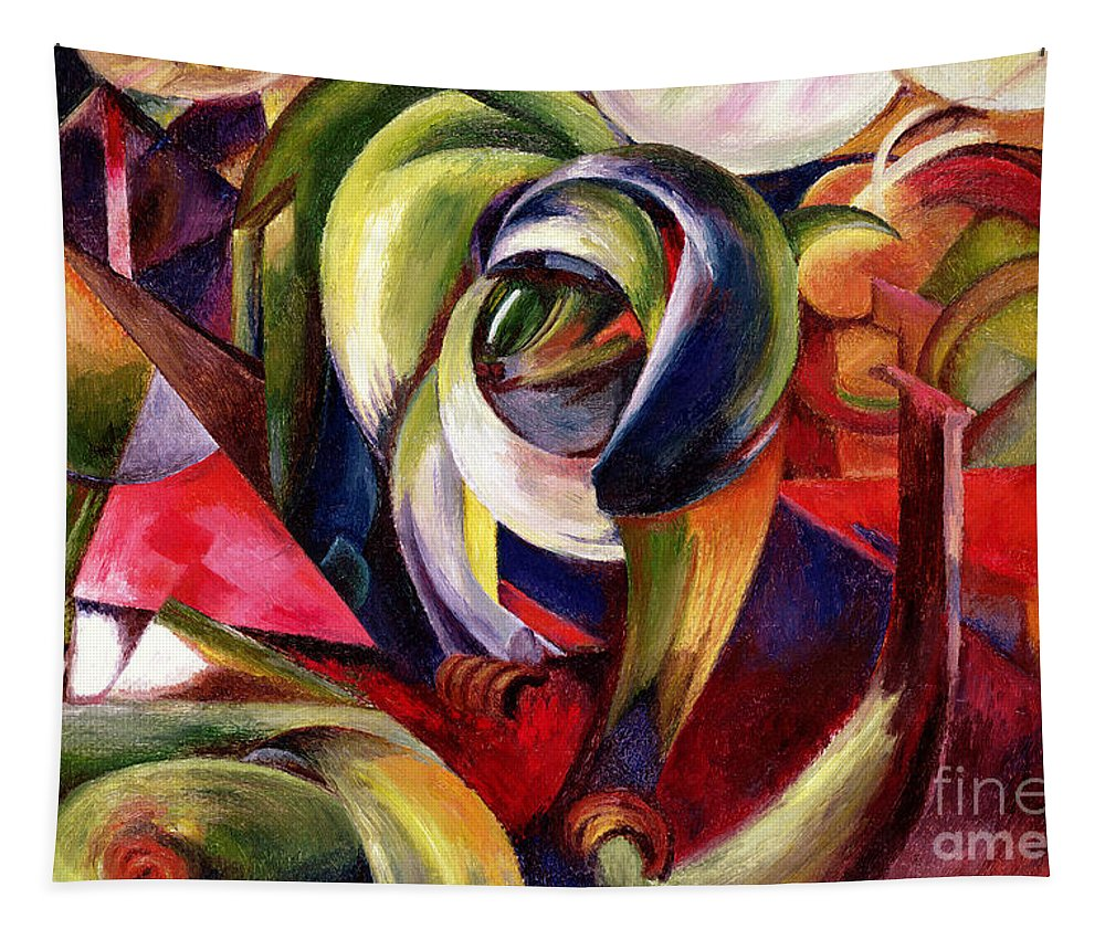 Mandrill Tapestry featuring the painting Mandrill by Franz Marc