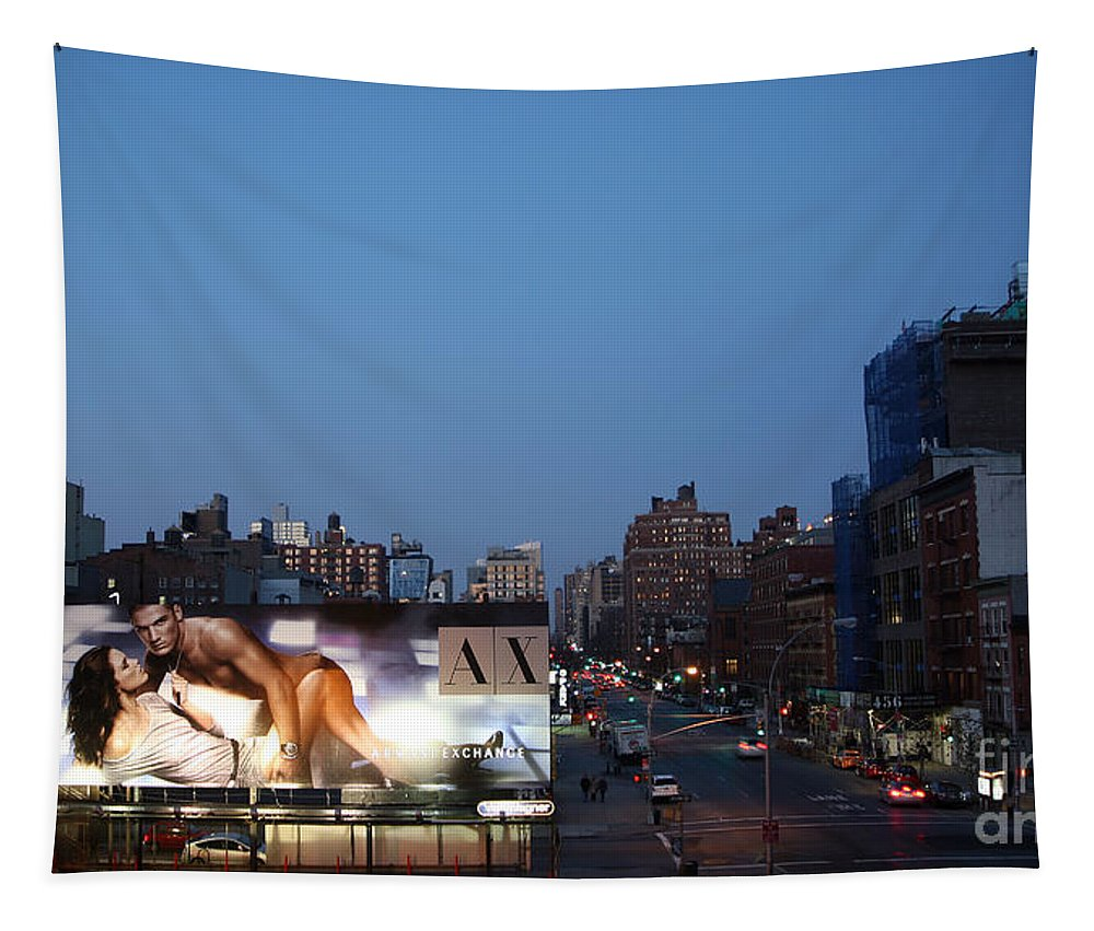 Manhattan Tapestry featuring the photograph Manhattan View From The High Line by Madeline Ellis