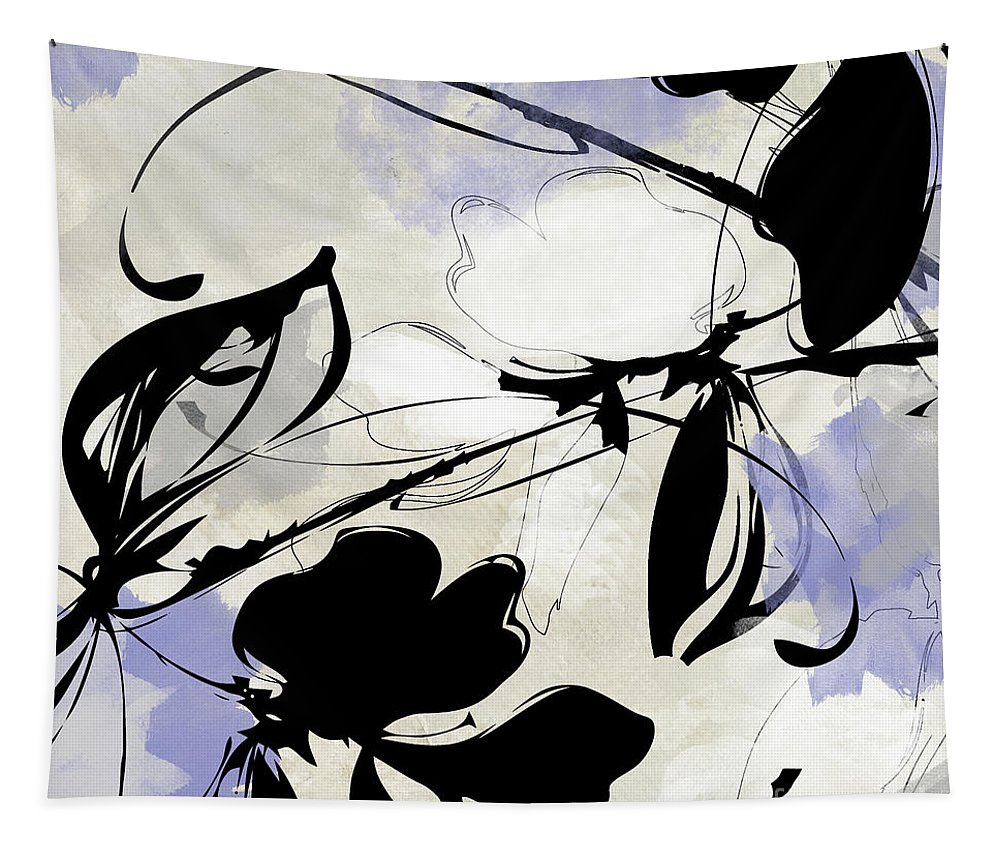 Abstract Tapestry featuring the painting Manifesto Periwinkle by Mindy Sommers