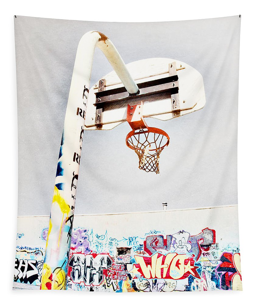 Basketball Tapestry featuring the photograph March 23 2010 by Tara Turner