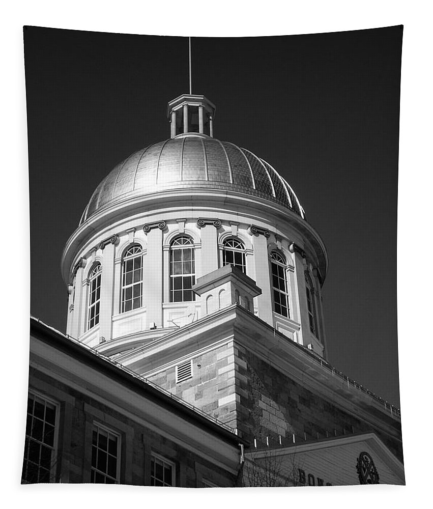 North America Tapestry featuring the photograph Marche Bonsecours by Juergen Weiss