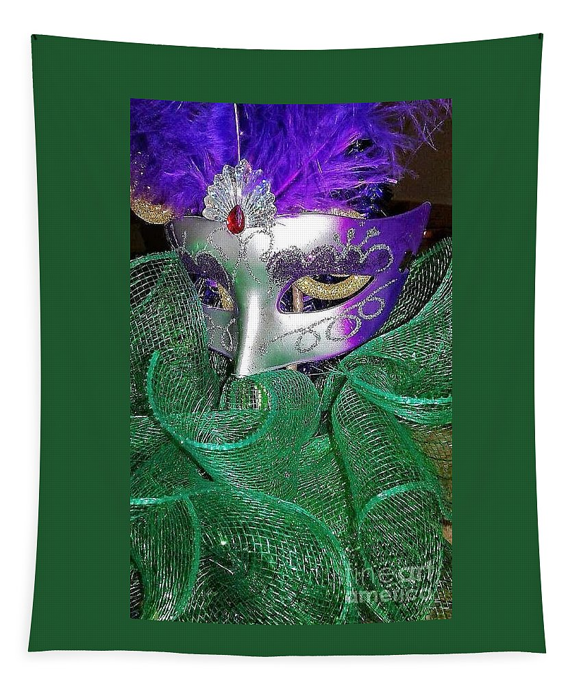 Mardi Gras Tapestry featuring the photograph Mardi Gras by Gina Sullivan