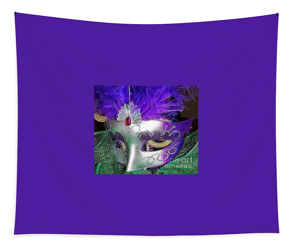 Mardi Gras Tapestry featuring the photograph Mardi Gras Mask by Gina Sullivan