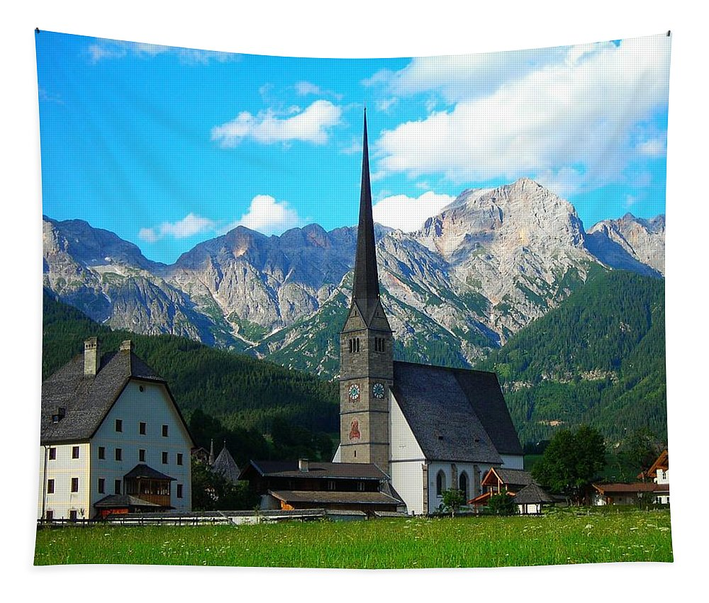Europe Tapestry featuring the photograph Maria Alm Am Steinernen Meer by Juergen Weiss
