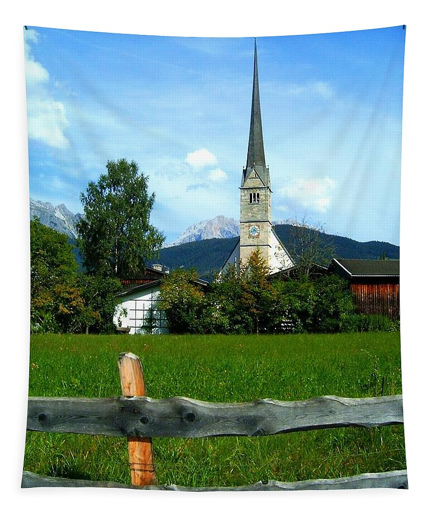 Europe Tapestry featuring the photograph Maria Alm by Juergen Weiss